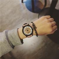 Watches Women Fashion Watch Wood Grain Casual Small dial Wristwatches Quartz