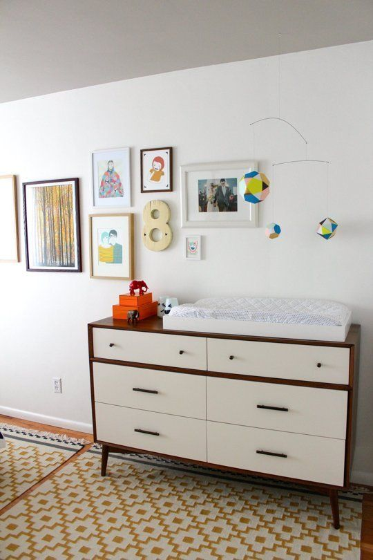 Mid Century 6 Drawer Dresser As A Changing Table From West Elm