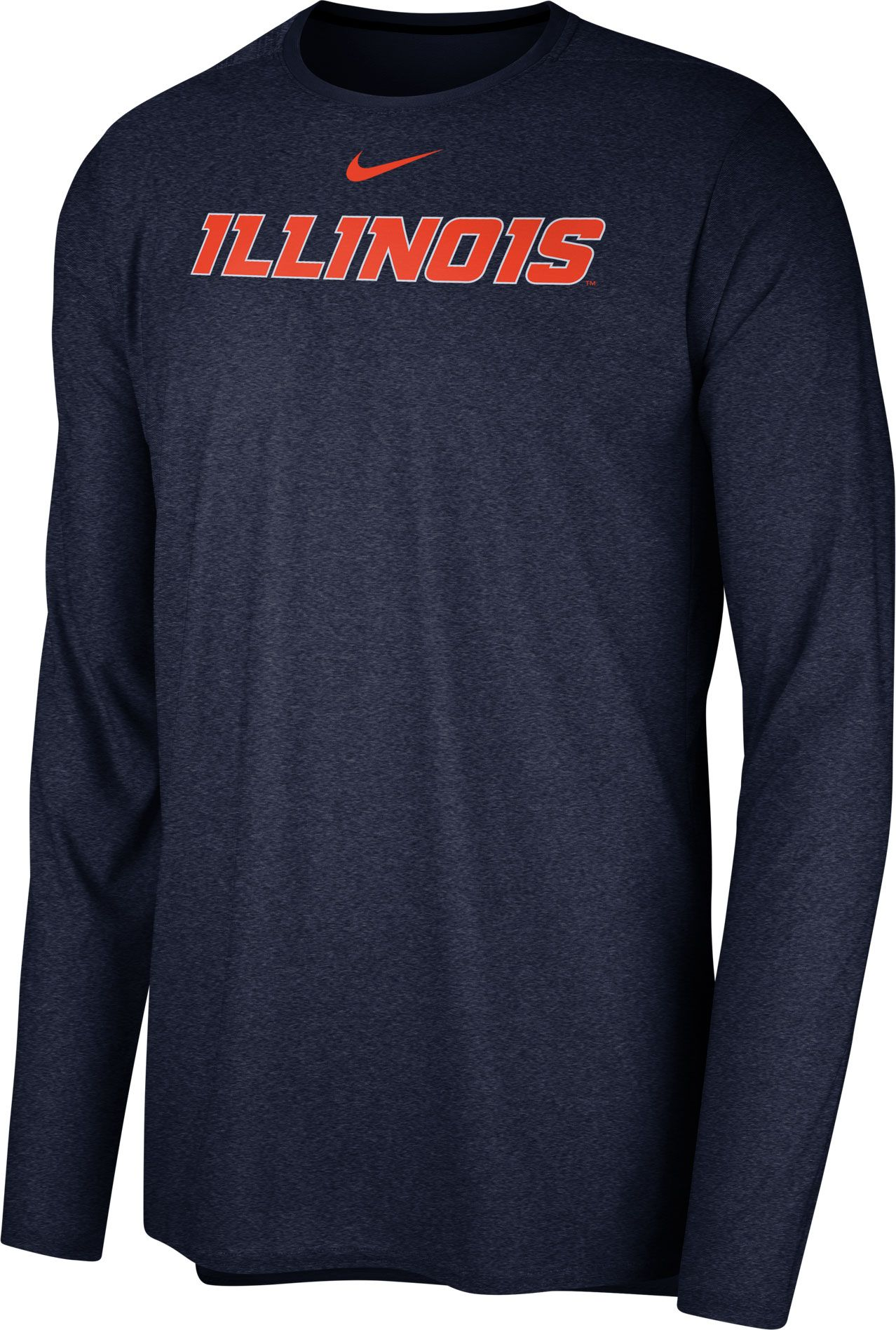 b3b5a152718a Nike Men s Illinois Fighting Illini Blue Football Dri-FIT Player Long  Sleeve T-Shirt