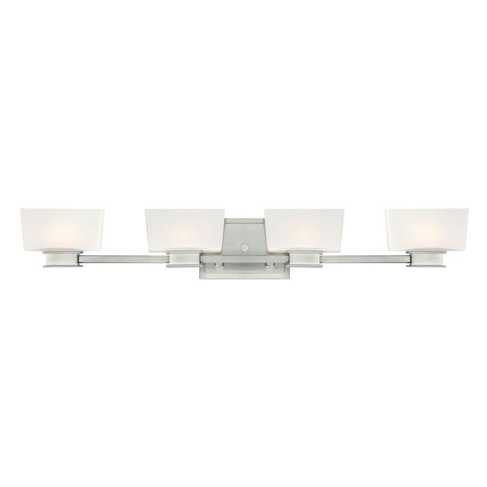 Designers Fountain Geneva Light Satin Platinum Interior Halogen - Halogen bathroom vanity lights
