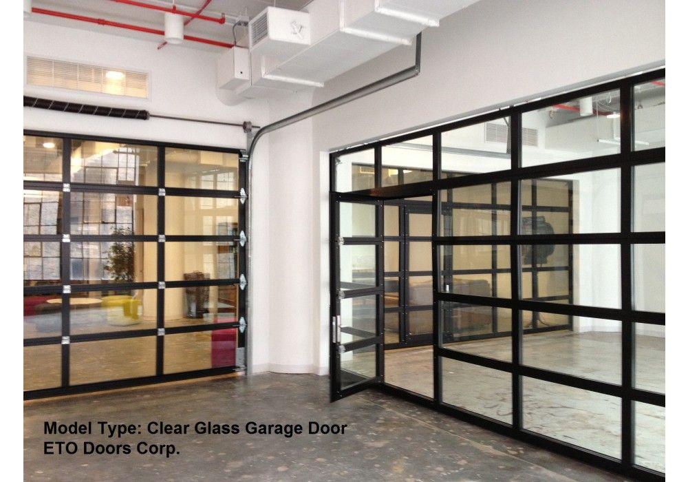 Aluminum Full View Glass Garage Doors On Restaurant Full