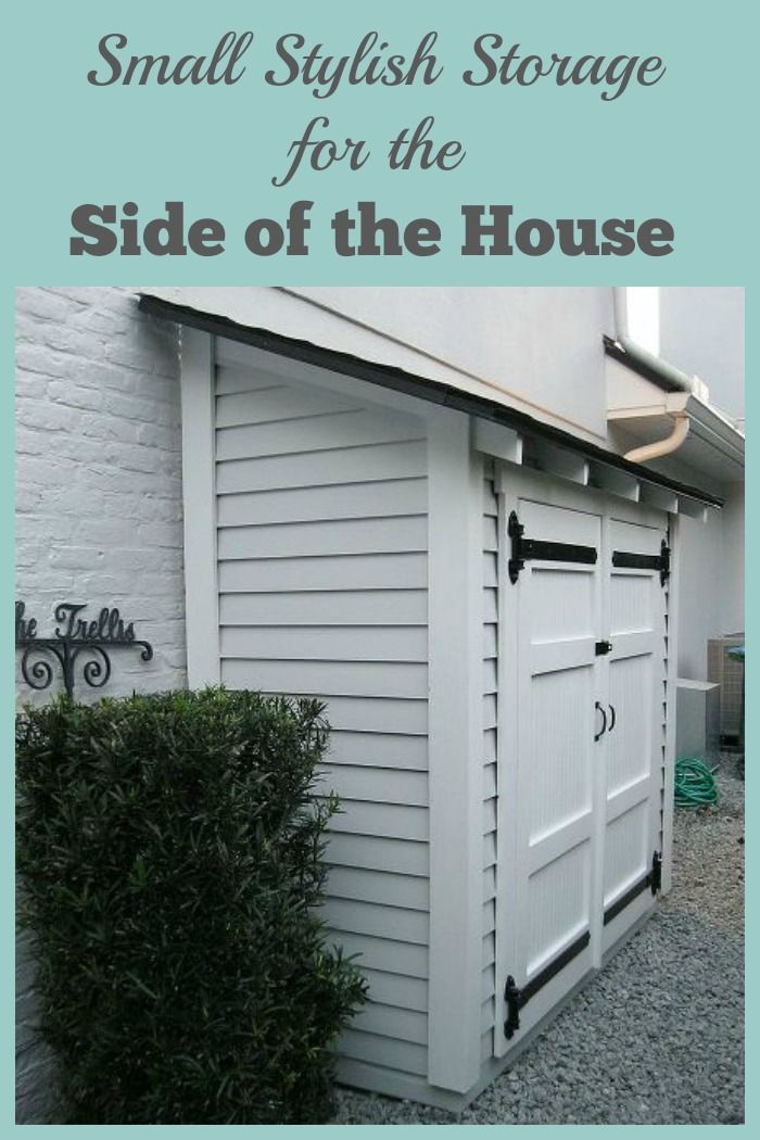Small Storage For Along The Side Of A House Shed Storage