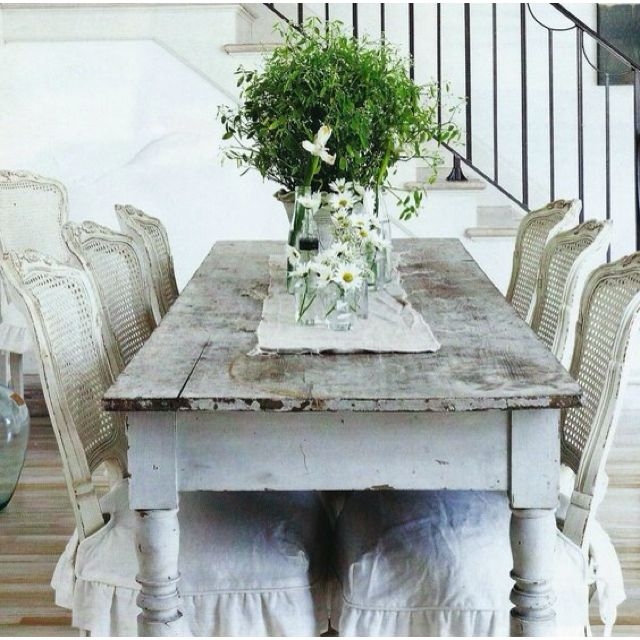 Paint Brown Rattan Chairs White Distress And Slipcover To