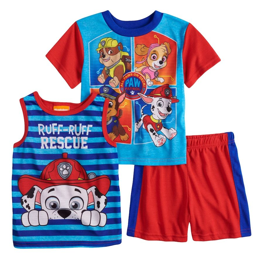 Paw Patrol Toddler Boys Pups Away Short Set 4T