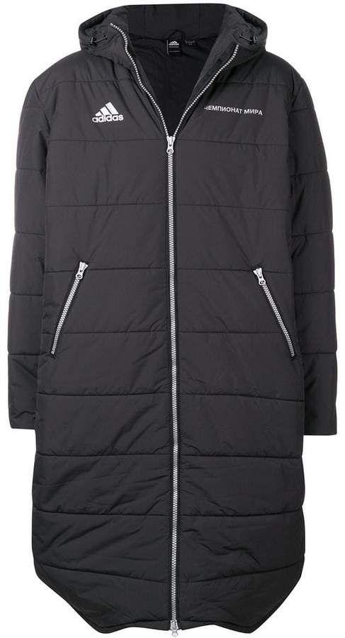 Gosha Rubchinskiy Gosha Rubchinskiy X Adidas Padded Hooded Maxi Coat Gosha Rubchinskiy Maxi Coat Black Adidas