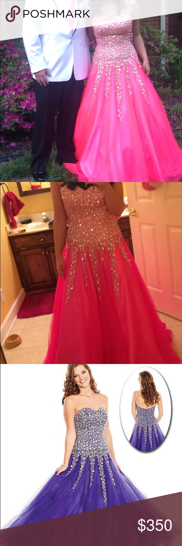 Prom dress with matching necklace earrings worn only for How to match jewelry with prom dress