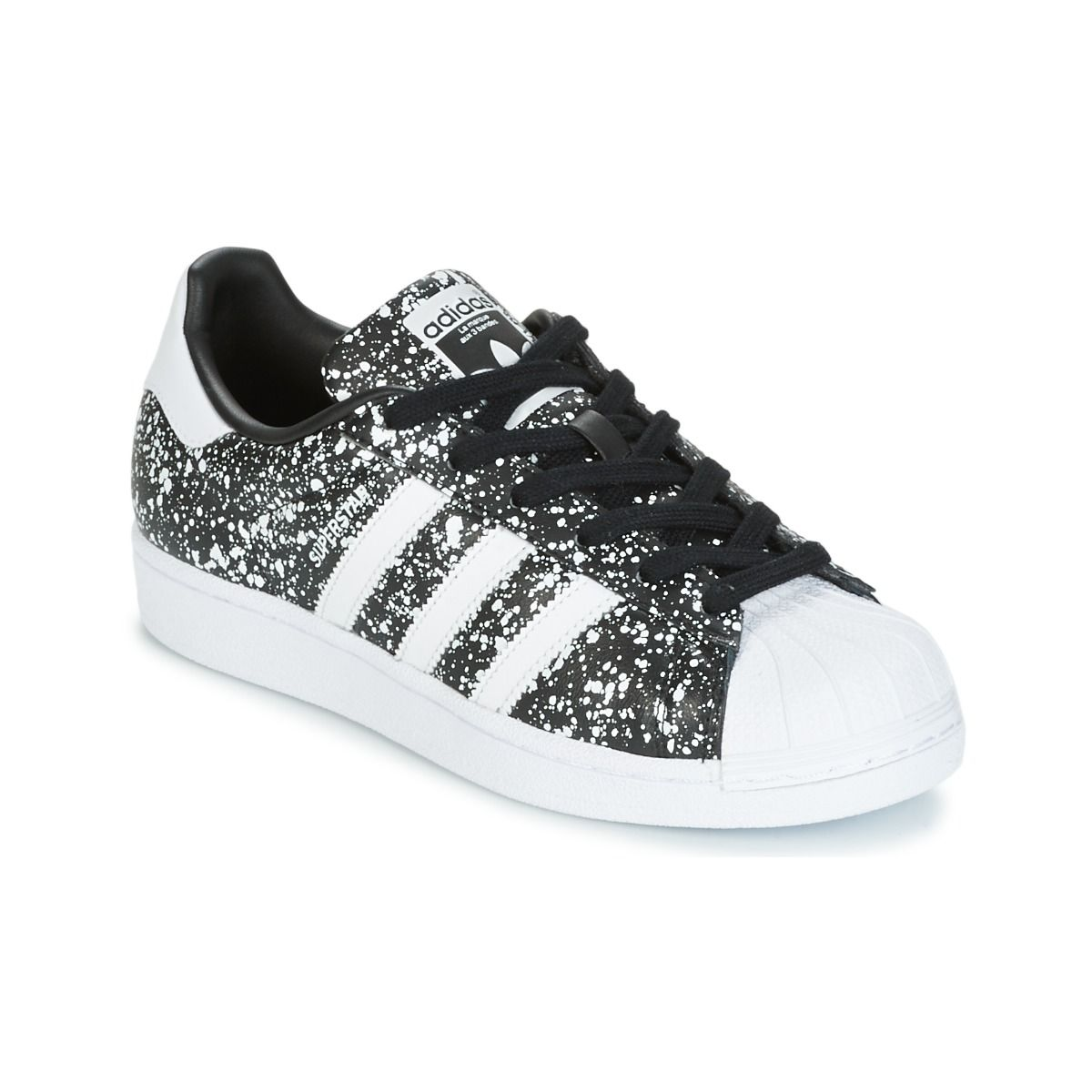 Baskets Originals Blanc Noir W Adidas Superstar Femme Pas Cher XROwdq