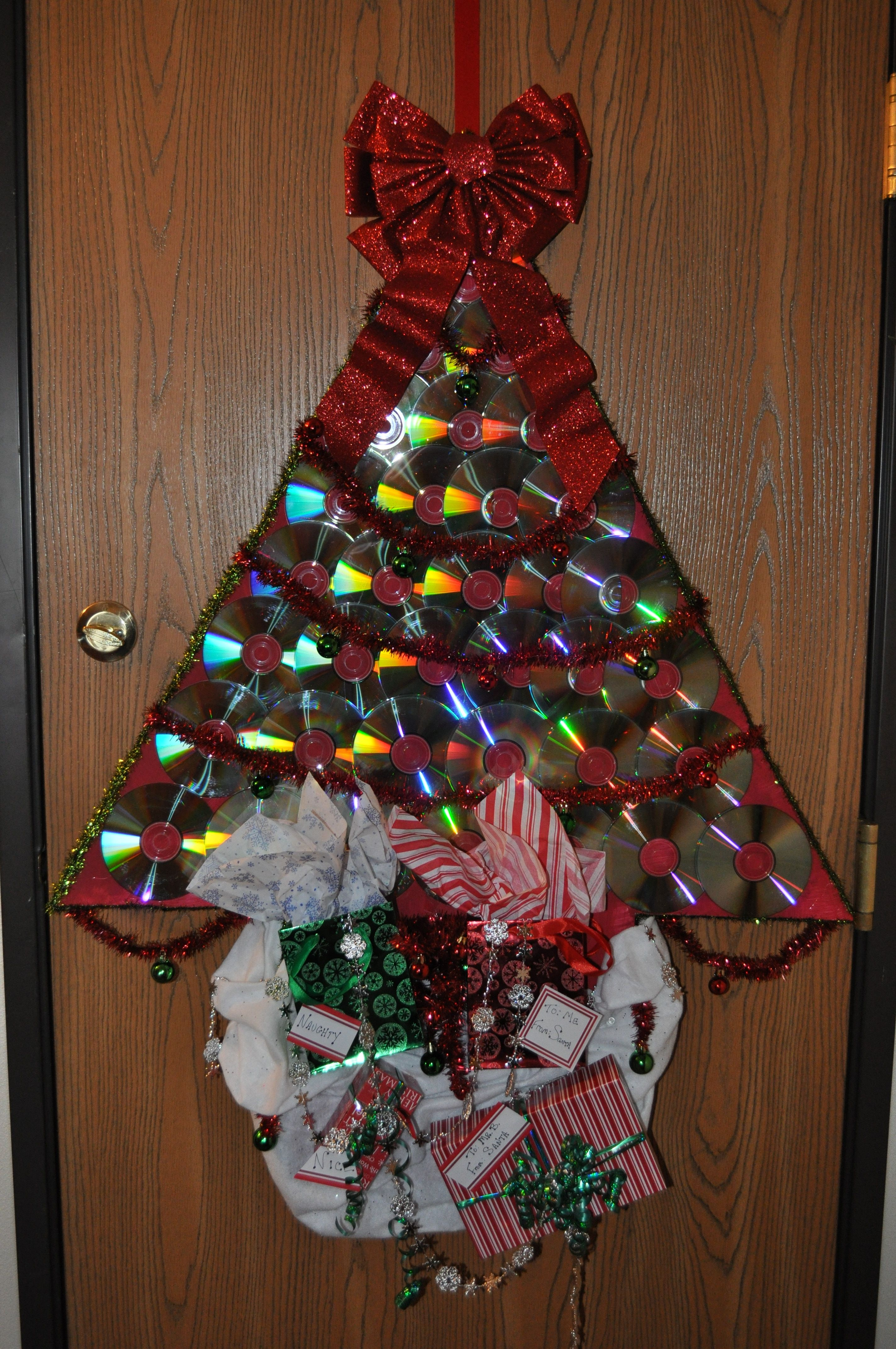 I Made This For A Christmas Door Contest I Started With