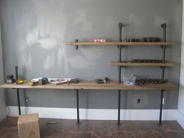 House Of Habit: Home Works//Pipe Shelf Unit In Boyu0027s Room