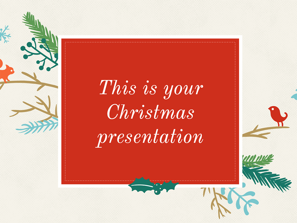 Free Christmas Presentation  Powerpoint Template Or Google Slides