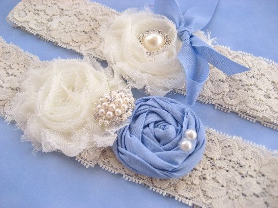 something blue garter set, with a vintage touch