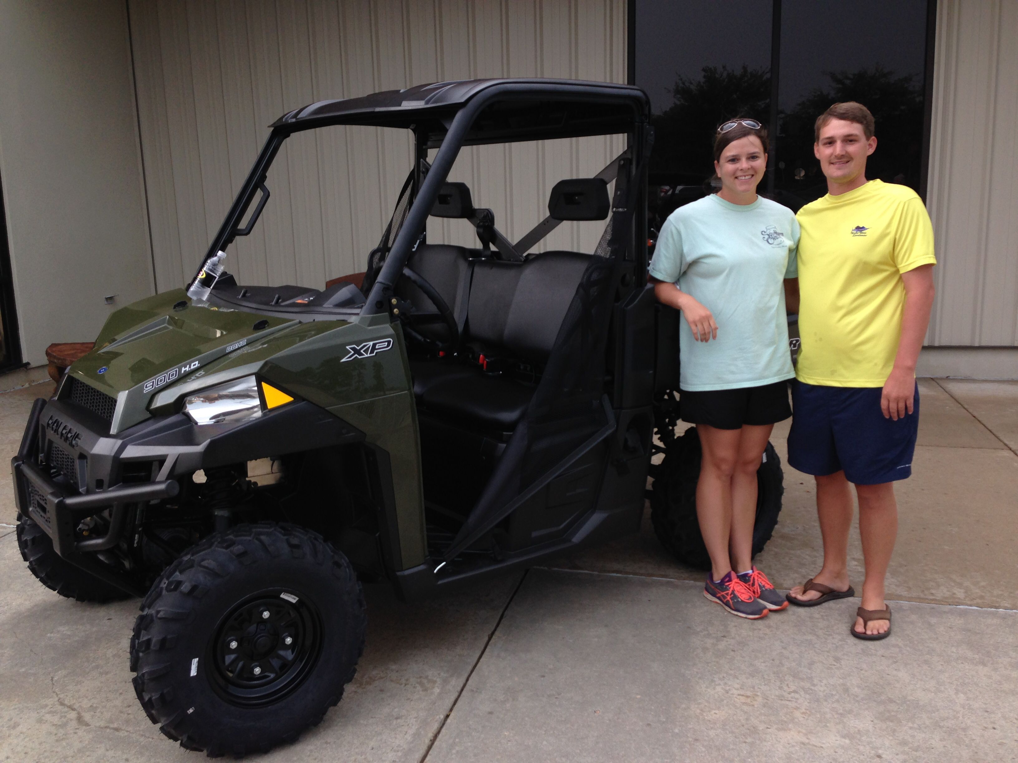 Congratulations to Kasey and Wyatt Barnhill from Spanish Fort, AL for purchasing a 2017 Polaris Ranger XP 900 at Hattiesburg Cycles.#polaris
