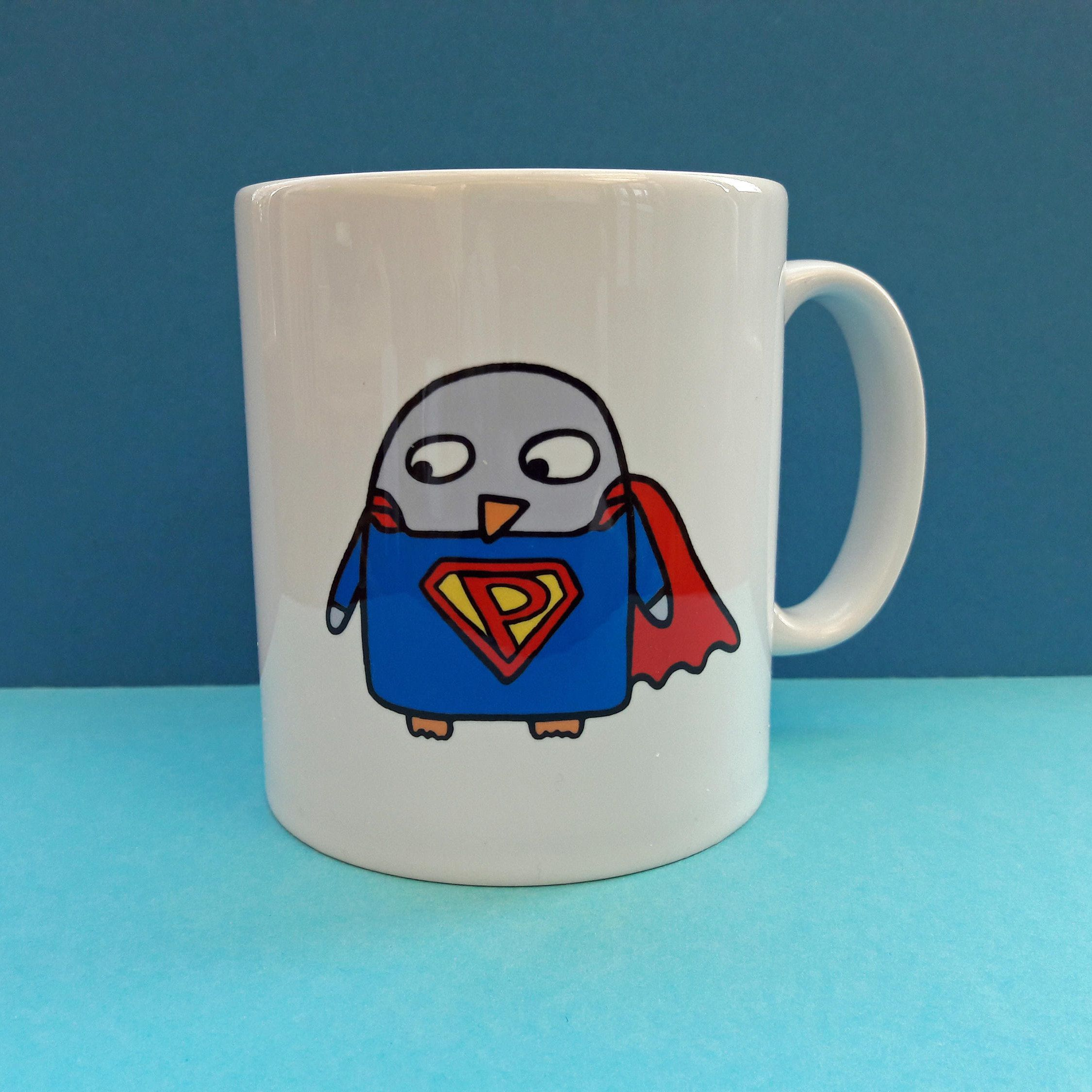 Superhero Mug - Funny penguin gift - Superhero gift - Superpenguin - Boyfriend - Son - Husband - Dad - birthday - boy #superherogifts