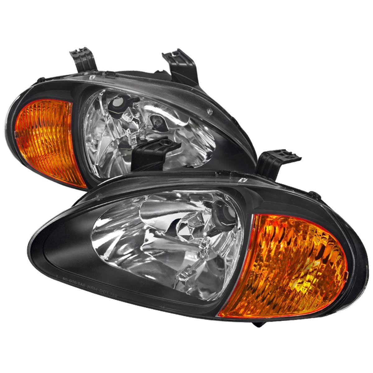 Spec D Oem Replacement Headlights Honda Del Sol Jdm Black 93 97 2lh Del93jm Eu Honda Del Sol Replacement Headlights Honda
