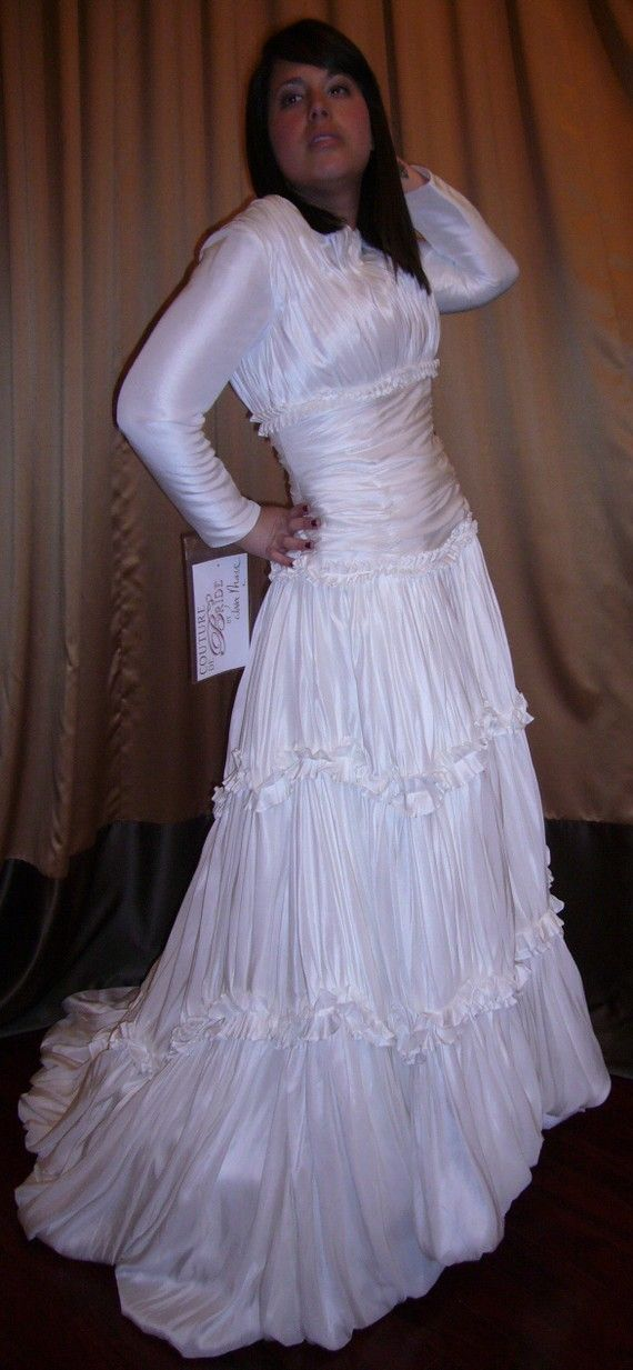 Now That S What I Call A Sister Wife Coelacanth Horrible Wedding Dress Wedding Dresses Long Sleeve Bridal Gown