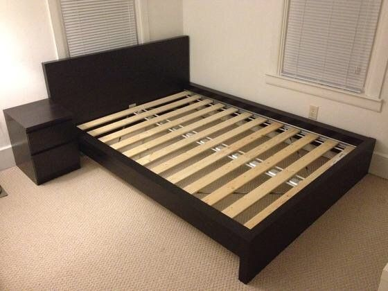 Bedroom: Bedding Nice Ikea Malm Bed Frame Queen Slats Panoramal and ...