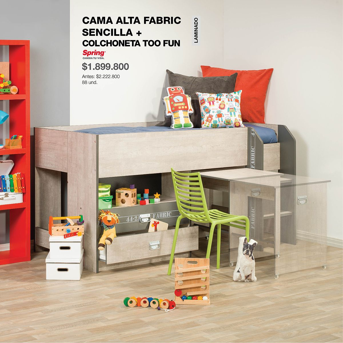 Cama Alta #Fabric: #Kids #ChildBed #Break #HomeArticles #Home #Bed ...