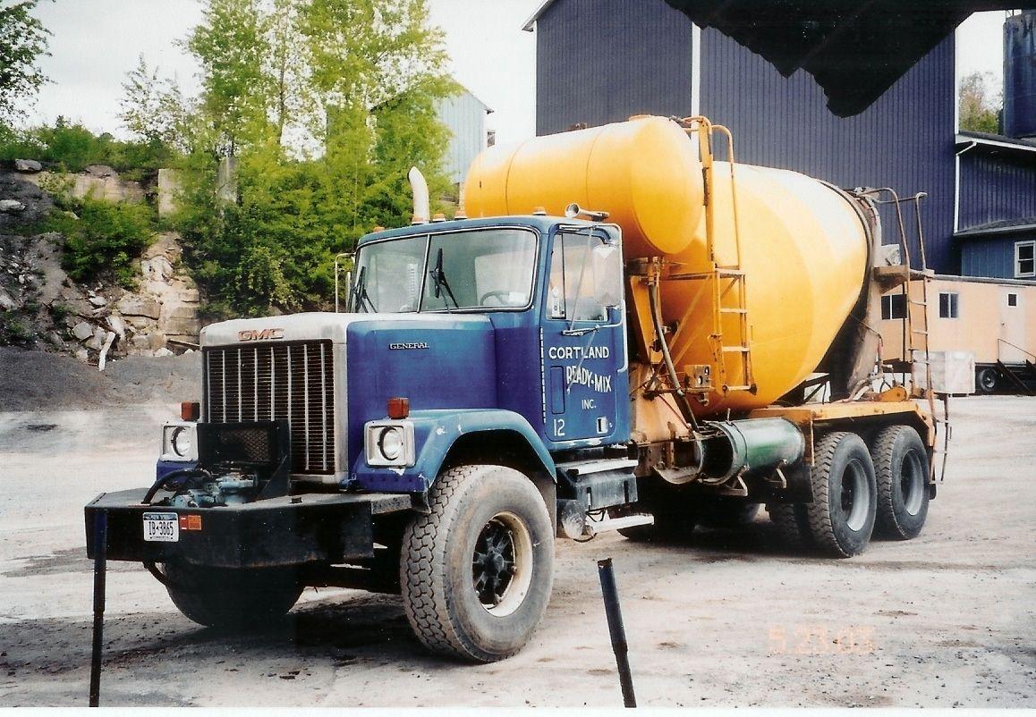 Gmc General Concrete Truck Gmc Trucks Cement Truck