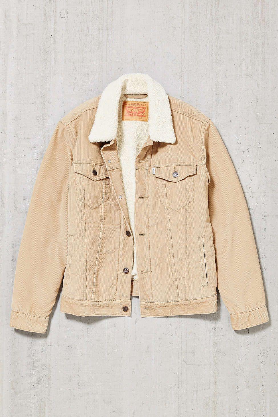 Levis Corduroy Sherpa Trucker Jacket - Urban Outfitters ce619ff3093