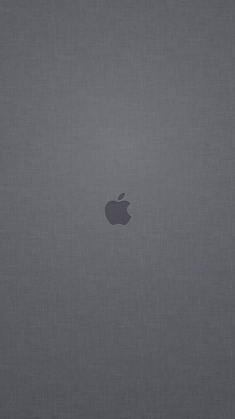 Apple Logo Gray Linen Texture Background Iphone  Wallpaper