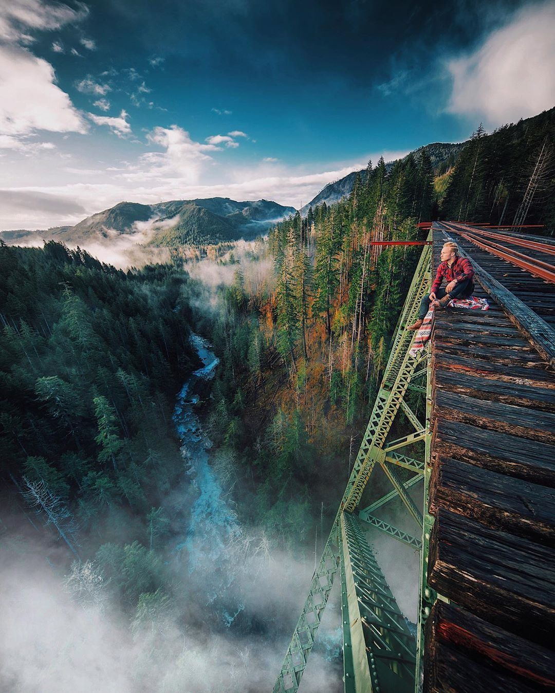 Bridge Fog Lake Landscape Mountain Nature Outdoors River Rock Scenic Tree Valley Water In 2020 Beautiful Destinations Travel Photography Places To Travel