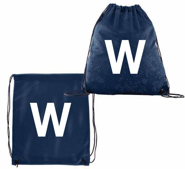 Chicago 'W' Sports Jersey Mesh Drawstring Backpack  #ChicagoCubs #Cubs #FlyTheW #MLB #ThatsCub