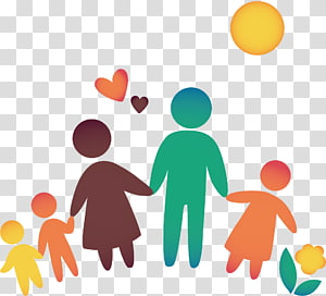 Assorted Colro Family Family Icon Happy Family Cute Cartoon Material Transparent Background Happy Birthday Illustration Birthday Illustration Family Cartoon
