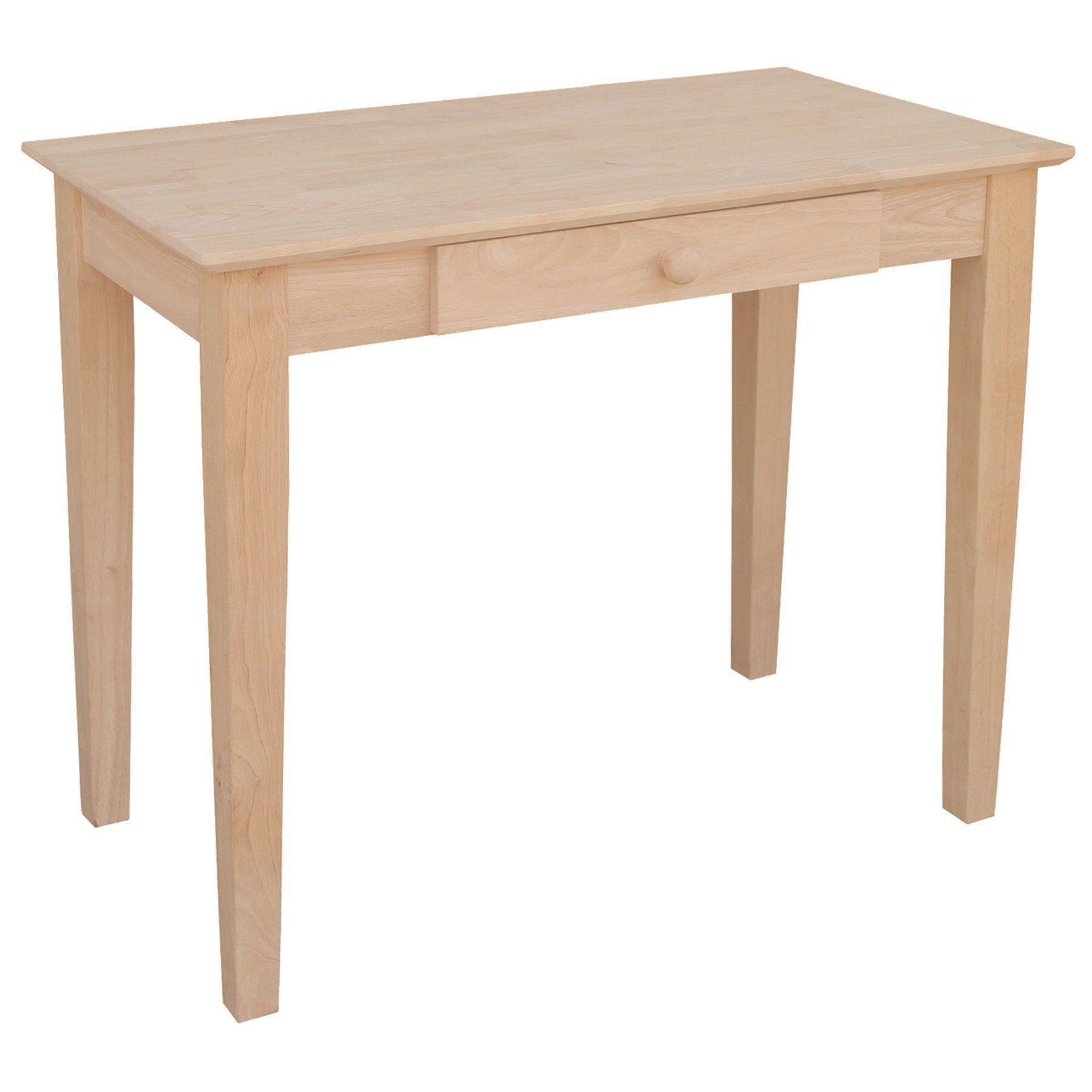 Hardwood Student Desk 36 Finished Options Unfinished Furniture Student Desks Small Writing Desk