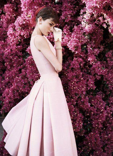 audrey hepburn pink flowers photoshoot the most beautiful ... - photo#38