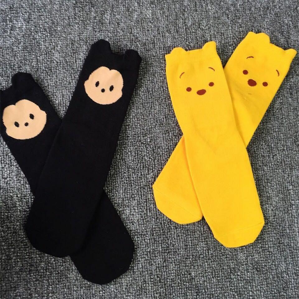 24136f180 Fuzzy Socks Winnie The Pooh Large Face Meng Combed Cotton Tube Socks  Children Socks Children Socks In Tube Socks Best Socks From Jane88