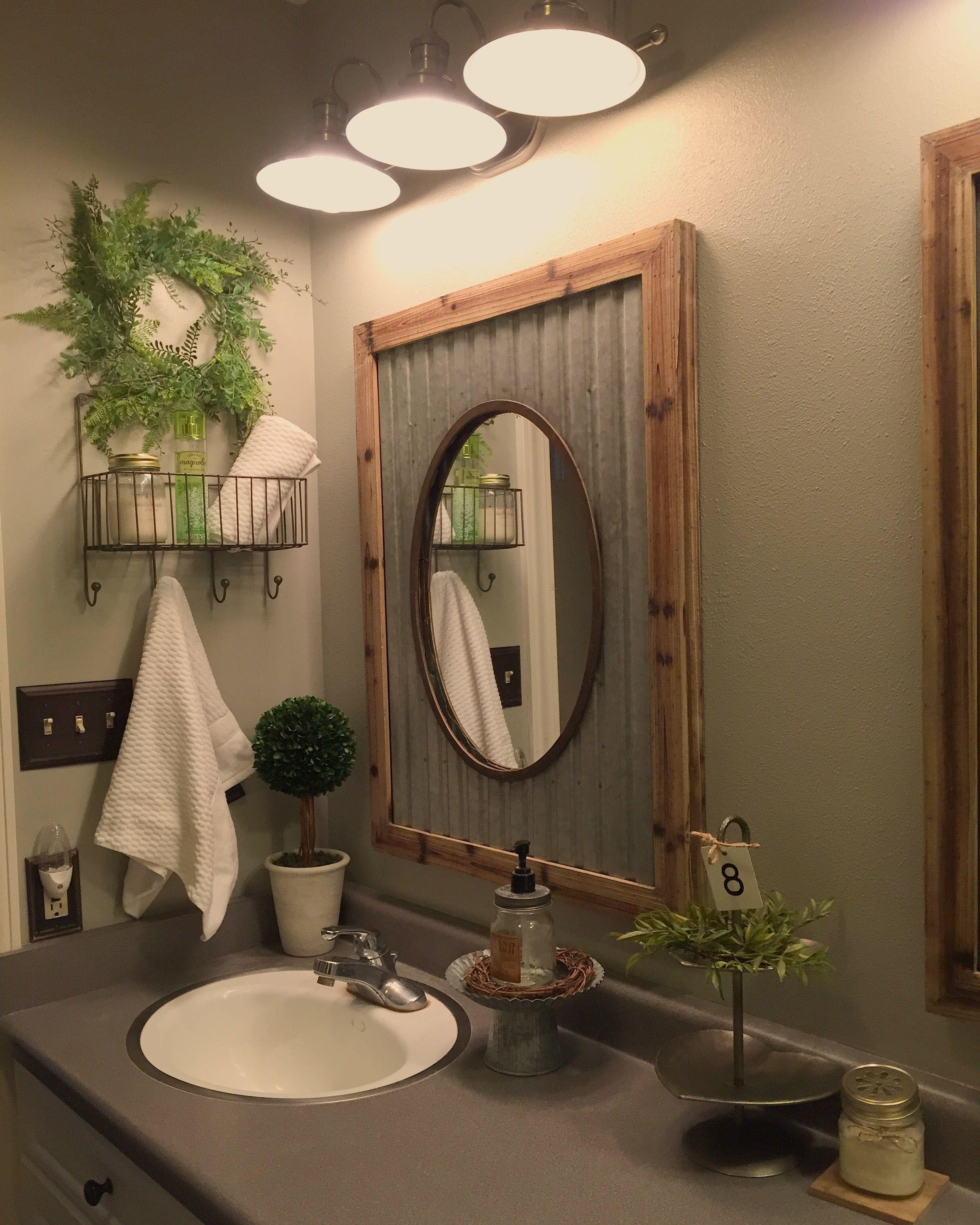 Bathroom Mirror Ideas To Reflect Your Style Rustic Bathroom Mirrors Rustic Bathroom Designs Small Bathroom Decor