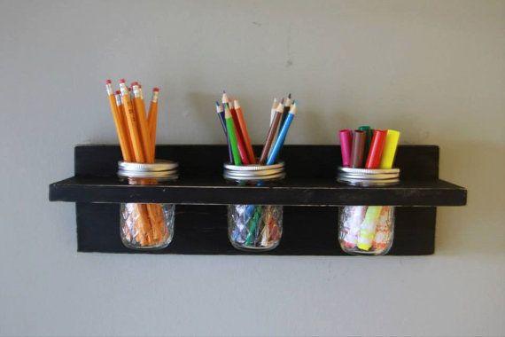 Rustic Shabby Chic Mason Jar Craft or by WoodCreationsbychris