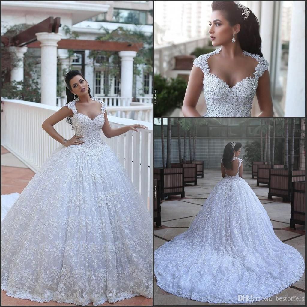 Barato catedral trem vestidos de casamento de luxo vestidos de baile