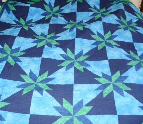 I made this Orion Star quilt for my astrophysicist boyfriend. The ... : orion star quilt - Adamdwight.com