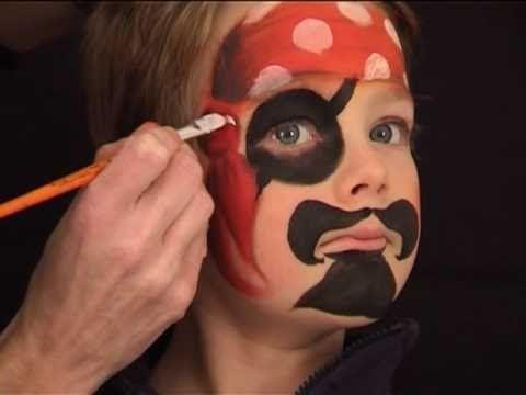 pirat schminken pirat kinderschminken vorlage video anleitung carnaval pinturas faciais. Black Bedroom Furniture Sets. Home Design Ideas