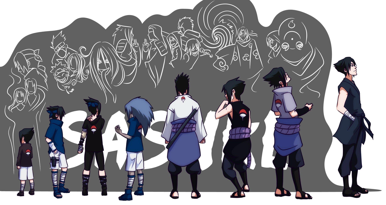 Naruto Uchiha Sasuke S Evolution All Forms Sasuke Uchiha Uchiha Anime Naruto