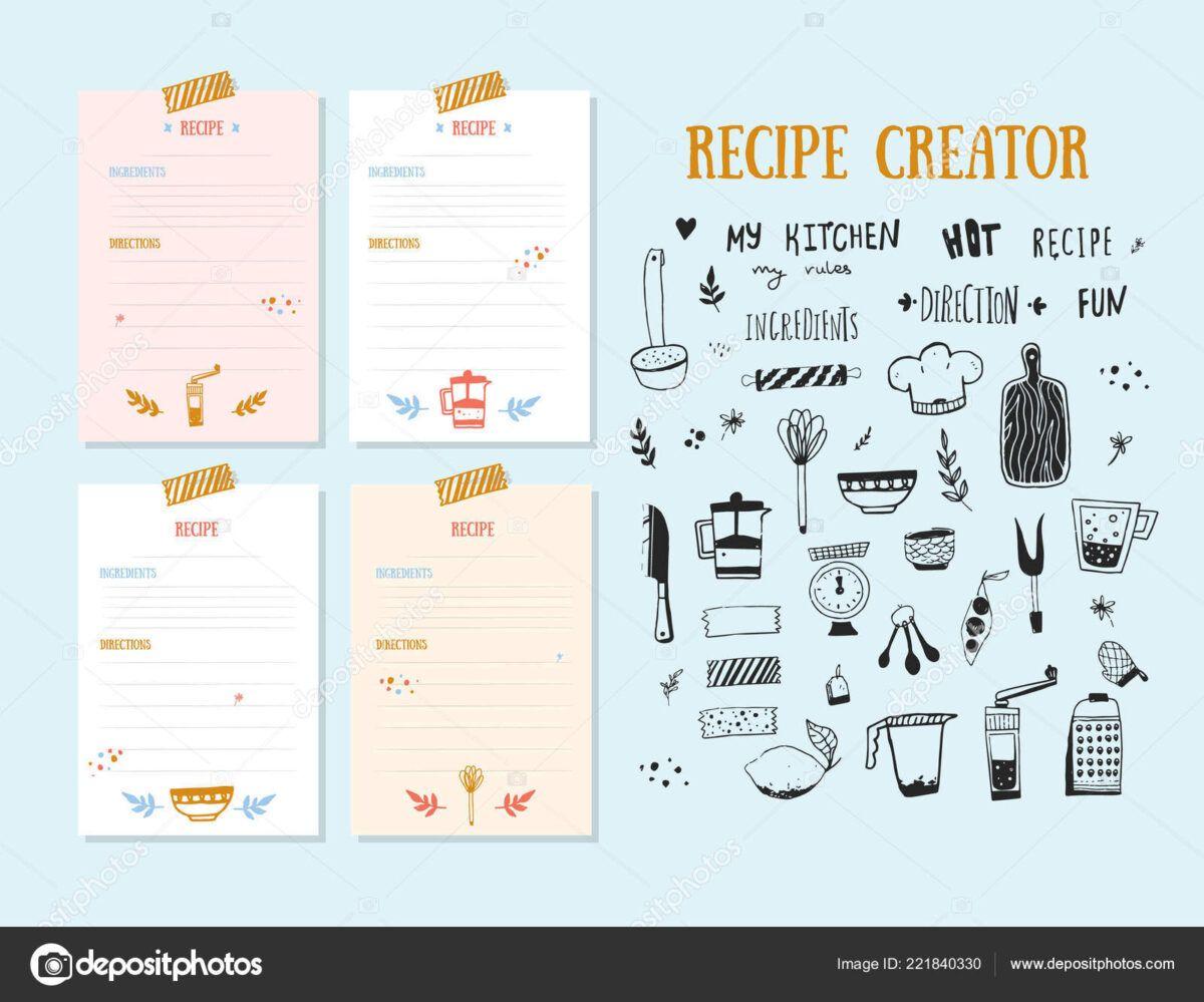 Recipe Card Design Template Tomope Zaribanks Co Throughout Recipe Card Design Template Recipe Cards Template Cookbook Design Template Cookbook Design