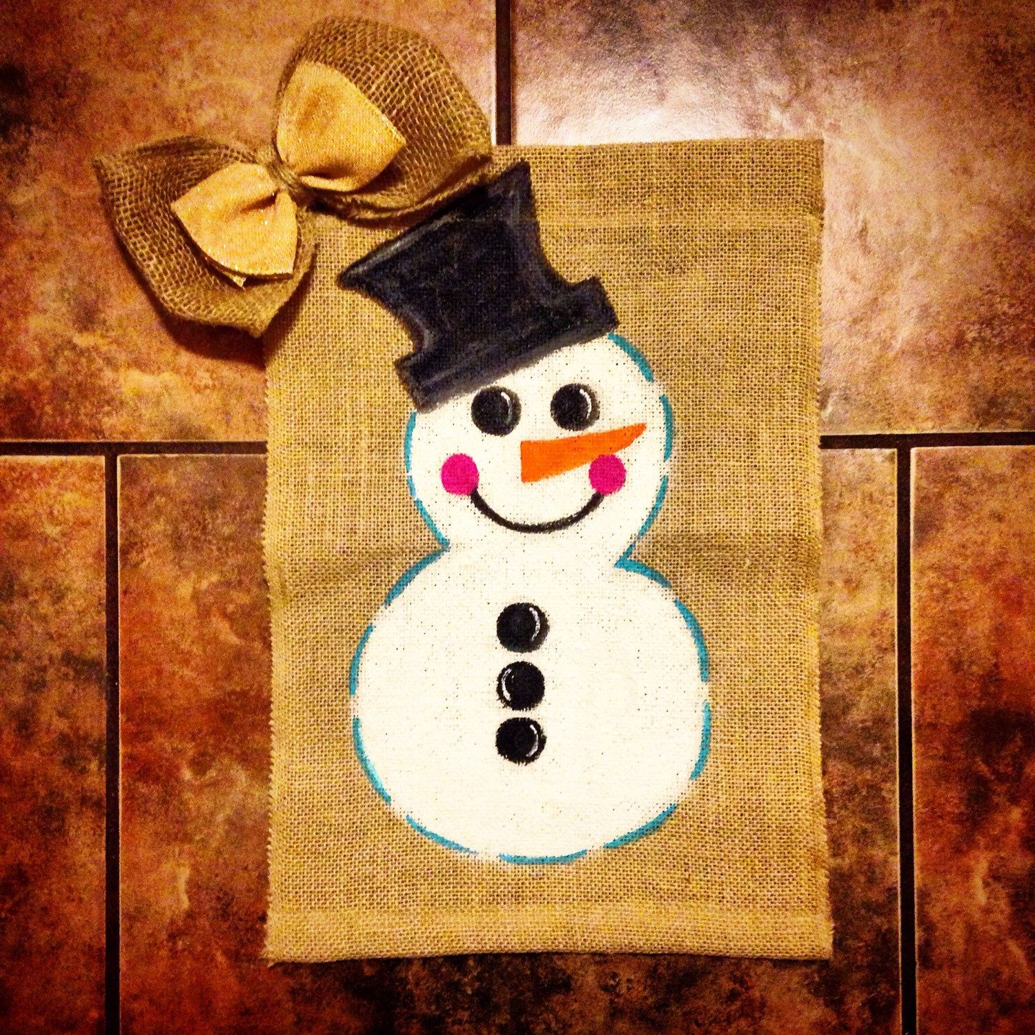 personalized snowman winter garden flag snowman and garden flags