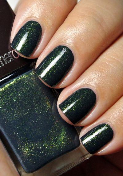 Color Crush Forest Green Green Nails Nail Polish Sparkly Nails