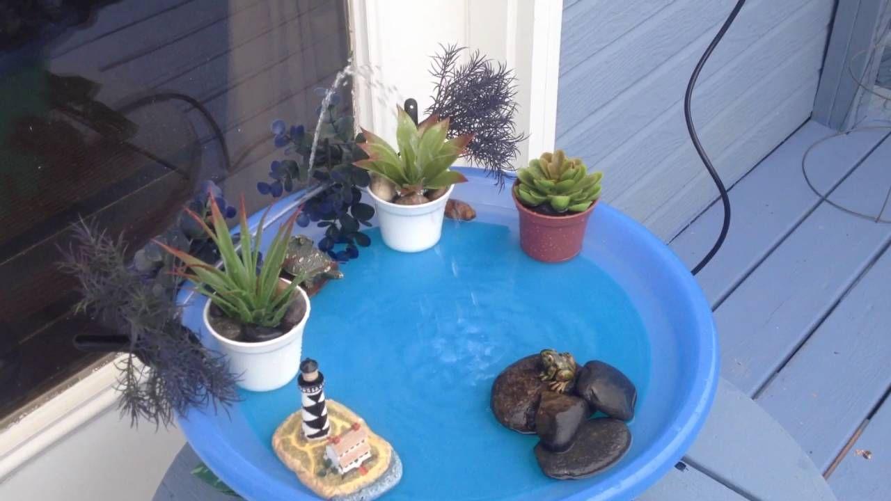 Fountain for my hummingbirds Diy bird bath, Diy fountain