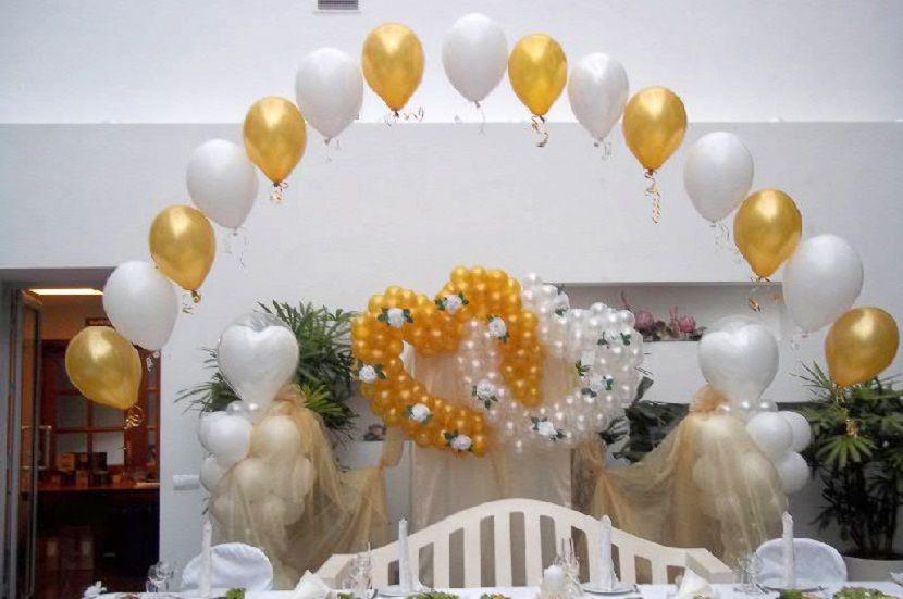 déco noces d or ballons Noces d 50 ans de mariage