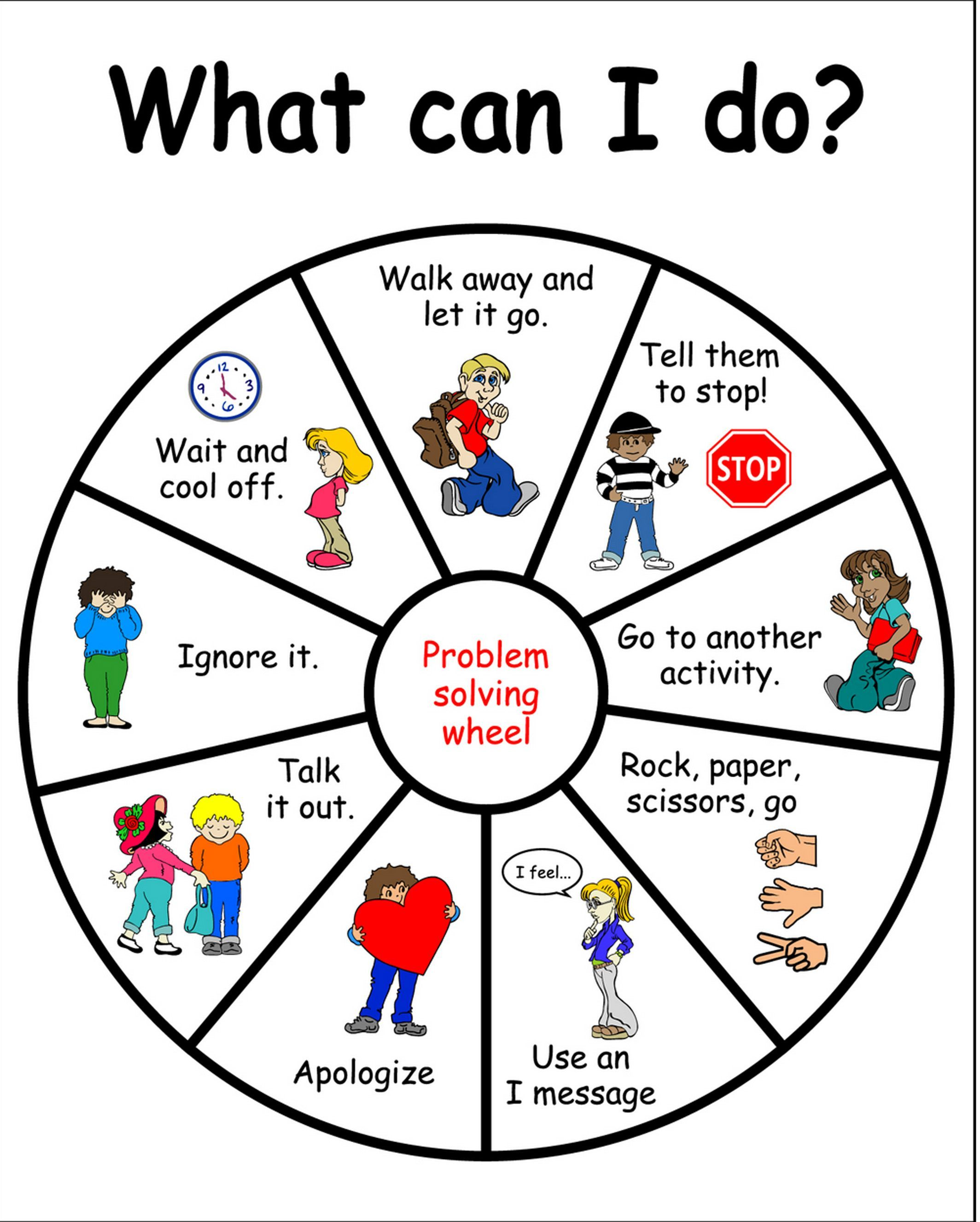 What Can I Do Problem Solving Wheel Coping Strategies