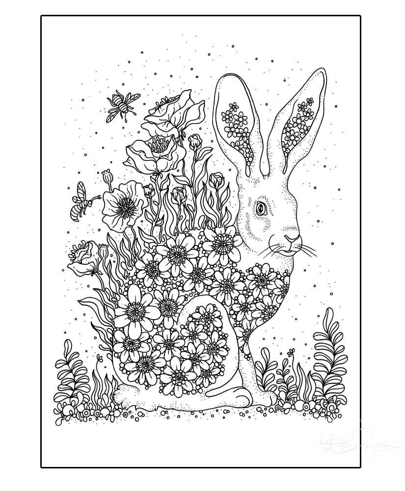 The coloring book poster - Bringer Of Summer Poster Via Hanna Karlzon Shop Click On The Image To See