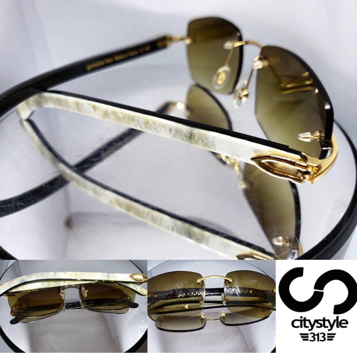 9d0baa61ecb C Decor Sperone White Buffalo Horn Sunglasses Armani Cranberry ...
