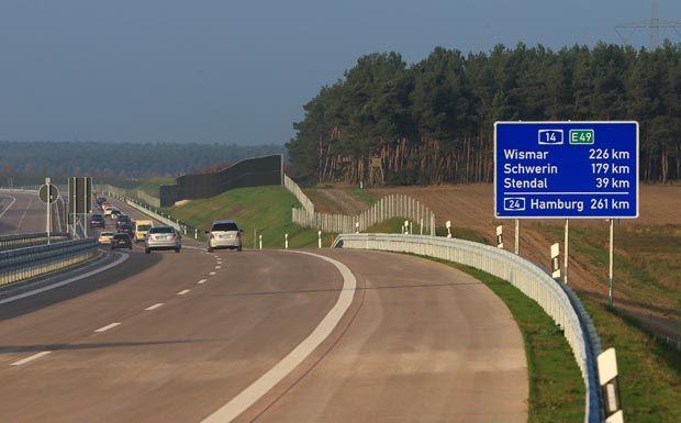 Autobahn A 14 bei Colbitz