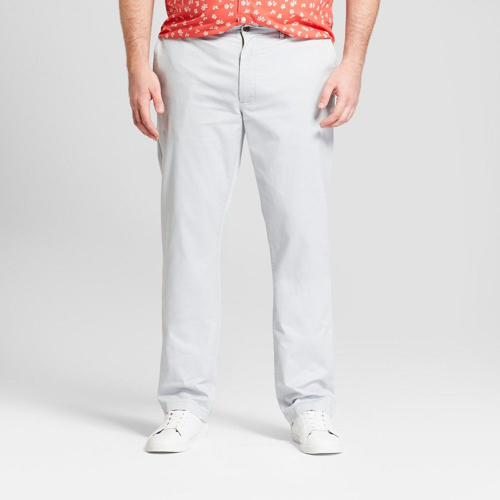 be20142ad1f3 Men's Tall Athletic Fit Hennepin Chino Pants - Goodfellow & Co Light Gray  36x36
