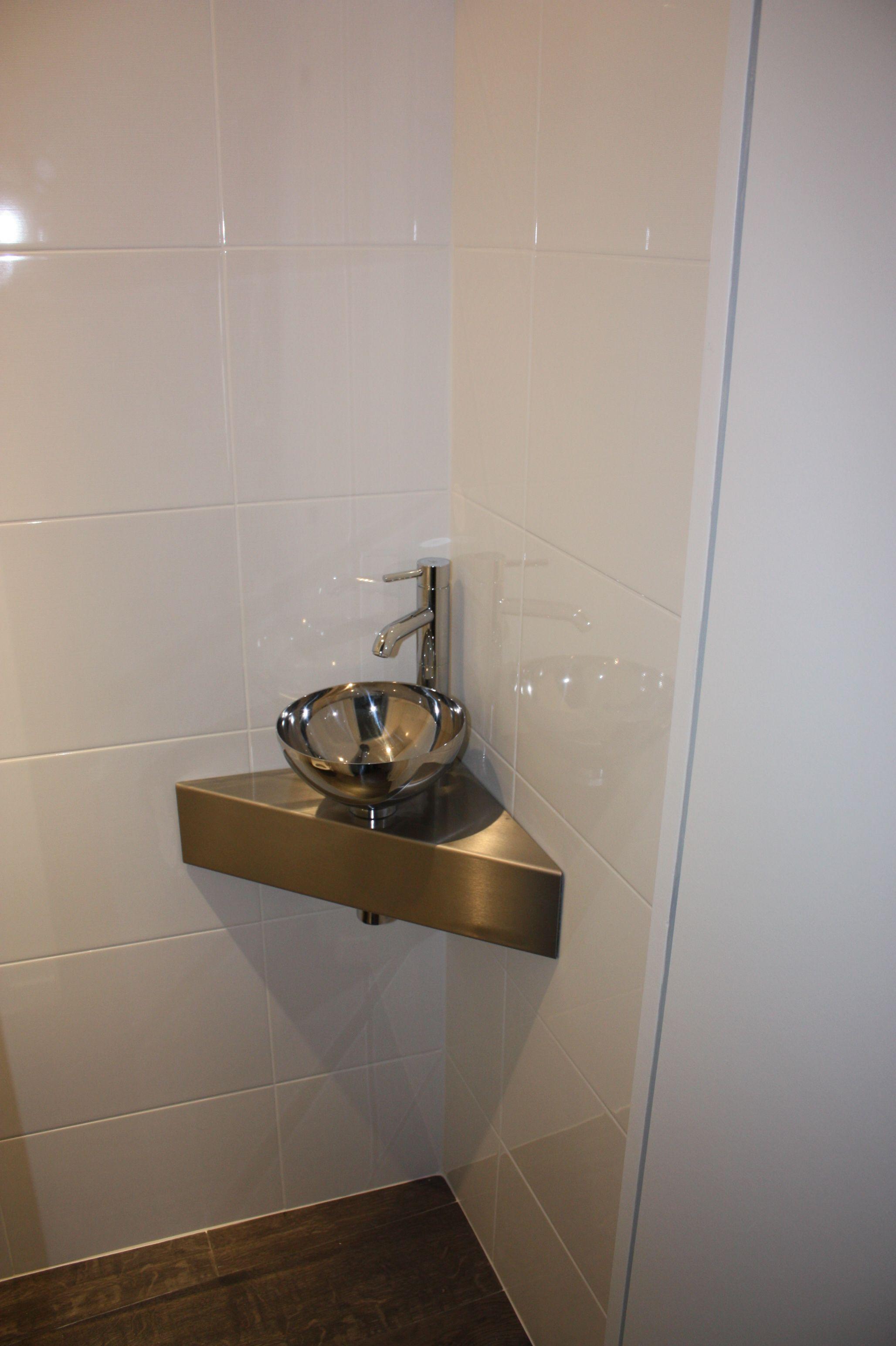 Plan De Toilette Hydrofuge support de lave-main réalisé en acier plié / collé sur mdf