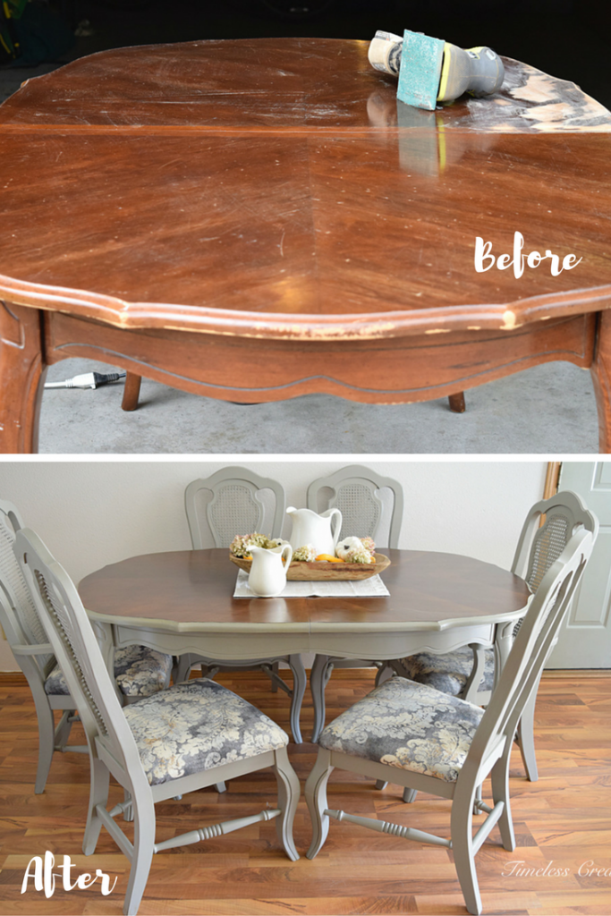 French Style Dining Set Table Makeover Room