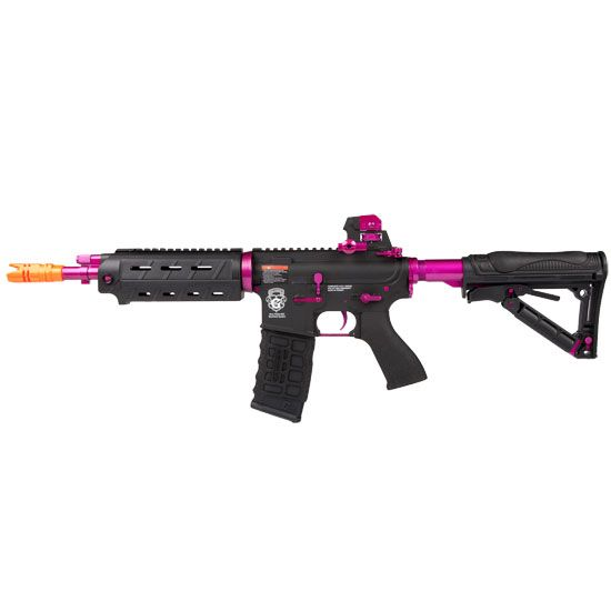 G&G GR4 G26 Black And Purple Trim FPS-340 Blowback Electric Airsoft Assault Rifle