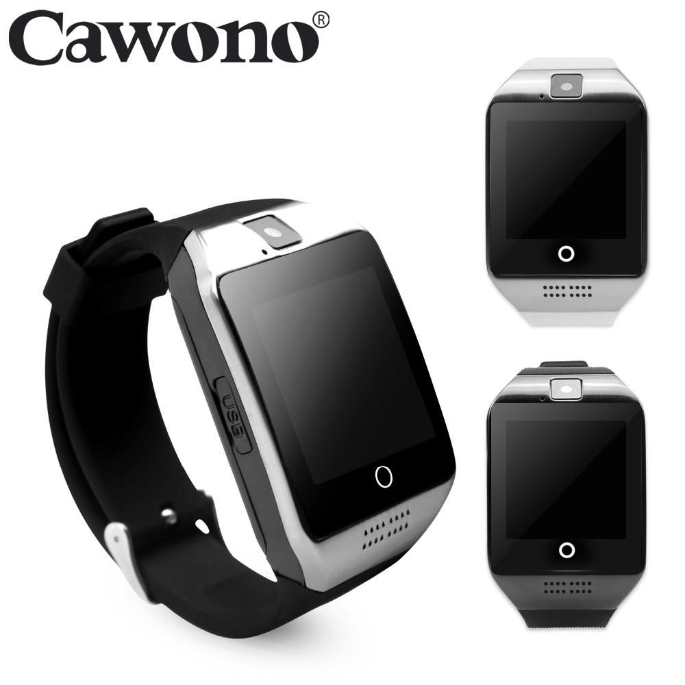 33a68afc4c5 Cawono Bluetooth Q18 Fitness Tracker Smart Watch Smartwatch Relogio Watch  Camera for IOS Apple Huawei Android